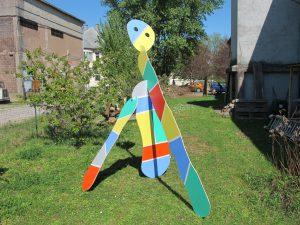 pélerin 3 , objet sculptural acrylique sur CP avril 2015